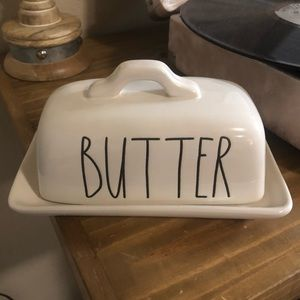 """Rae Dunn """"Butter"""" Dish - New, With Tags"""
